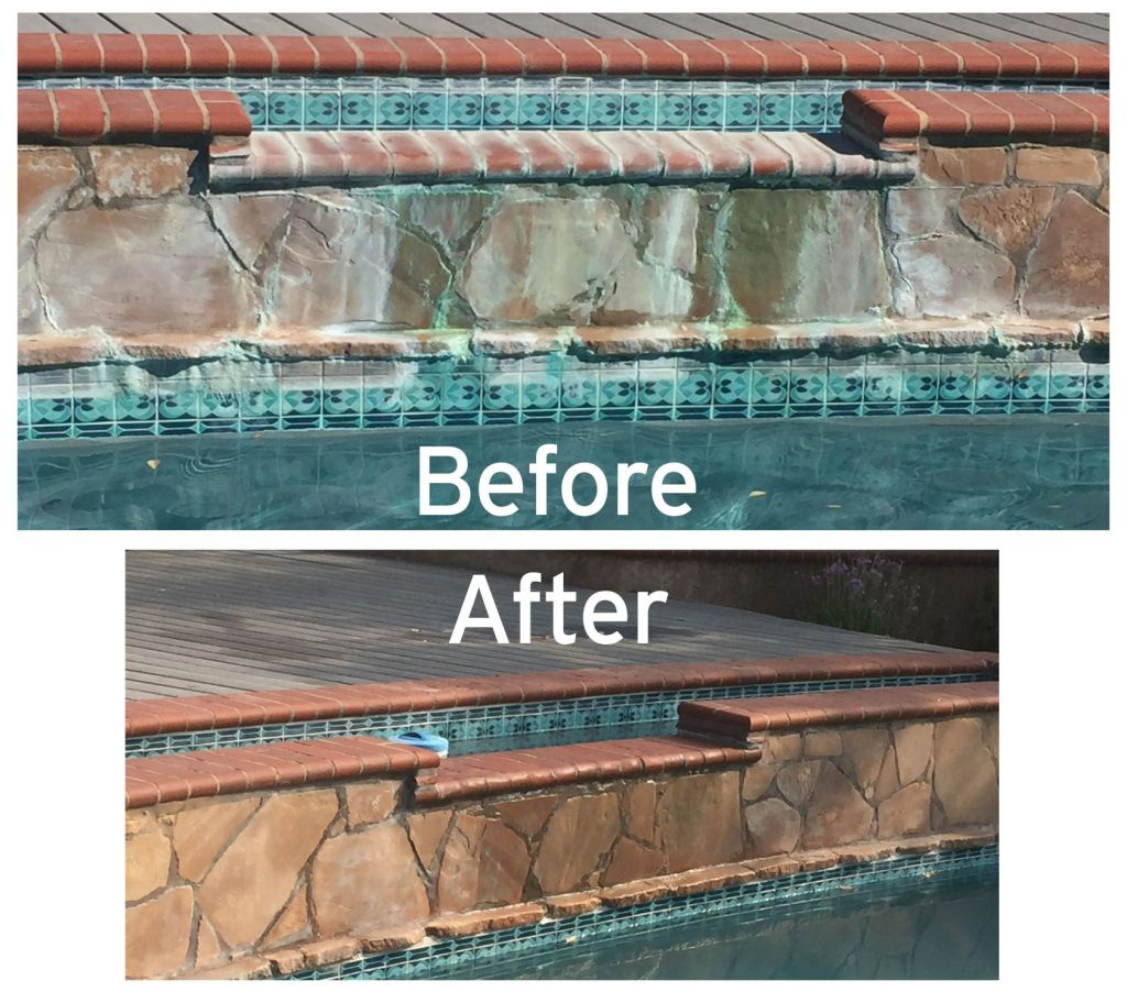poolwall cleaning tile