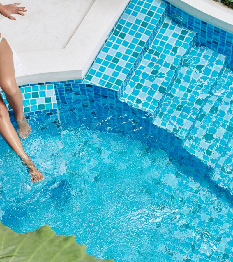 Swimming pool tile cleaning company